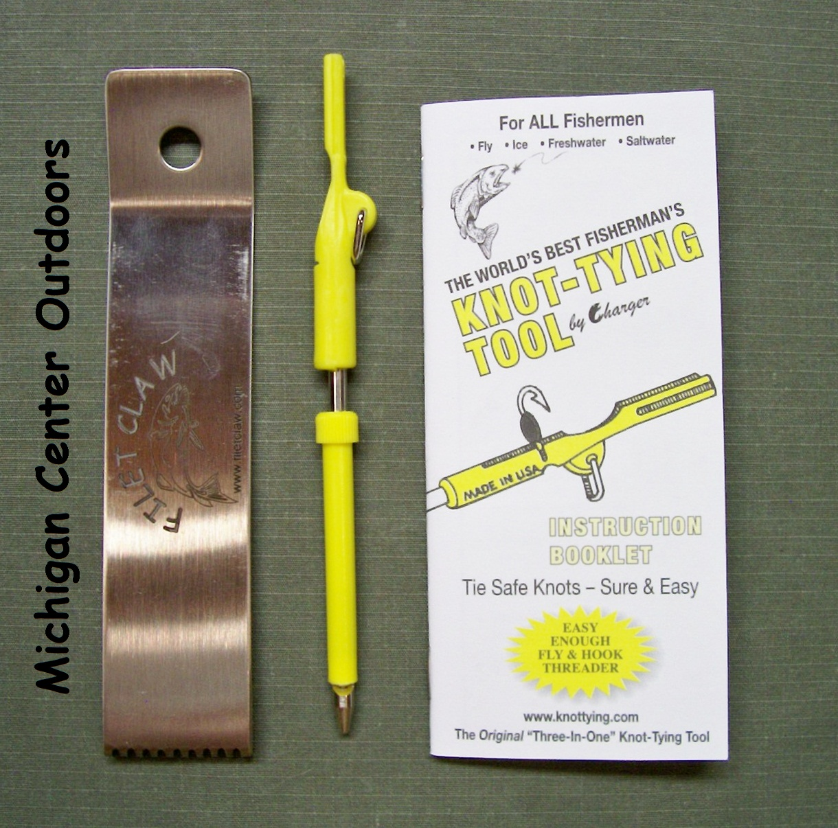 The fishermans knot tying tool for Fishing knot tool